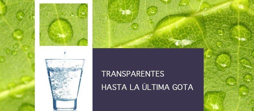 """Transparentes hasta la última gota"" Imagen"